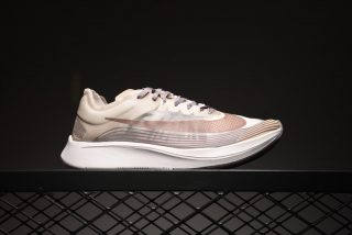 """0e1e3369e360 Nike Zoom Fly Sp Men s Running Shoes AA3172-200 """"Taupe Grey Obsidian-White""""  Sneakers"""