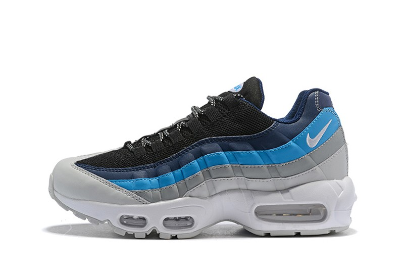 Top Quality Nike Air Max 95 Men's Running Shoes 749766-026 White/Black-Blue-Grey