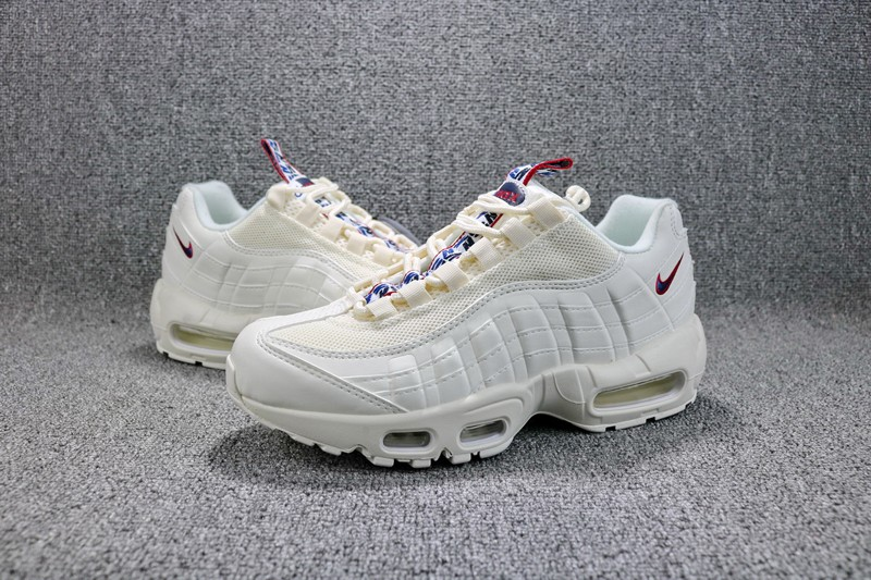 the best attitude 3f7c4 c8d14 Top Quality Nike Air Max 95 TT AJ1844-101 Pull Tab White/Red-Blue  Men's-Women's Running Shoes