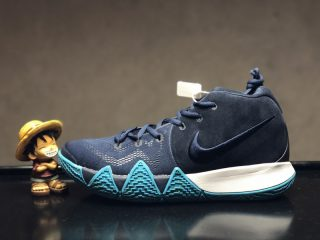 64068d311c01 2018 New Release Nike Kyrie 4 Dark Obsidian Black Basketball Shoes  943807-401 For Sale