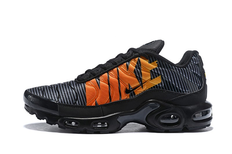 quality design 06f07 fc821 2018 Nike Air Max Plus TN SE AT0040-002 Striped Black/Orange Men's Newest  Running Shoes