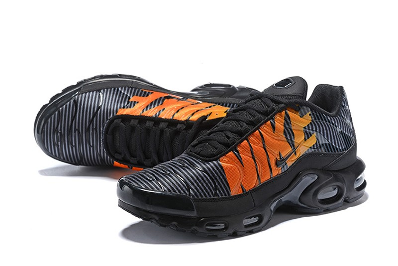 Nike Air Max Plus Tn Se At0040 002 Striped Black Orange Newest
