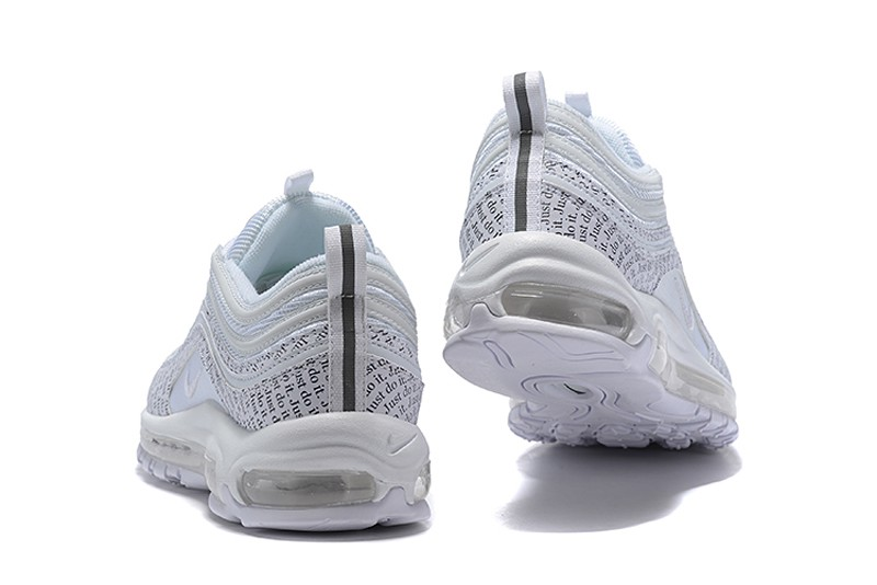 44525b651f3 2018 Year Nike Air Max 97 AT8437-100 Men s New Arrival White Black-White  Running Shoes