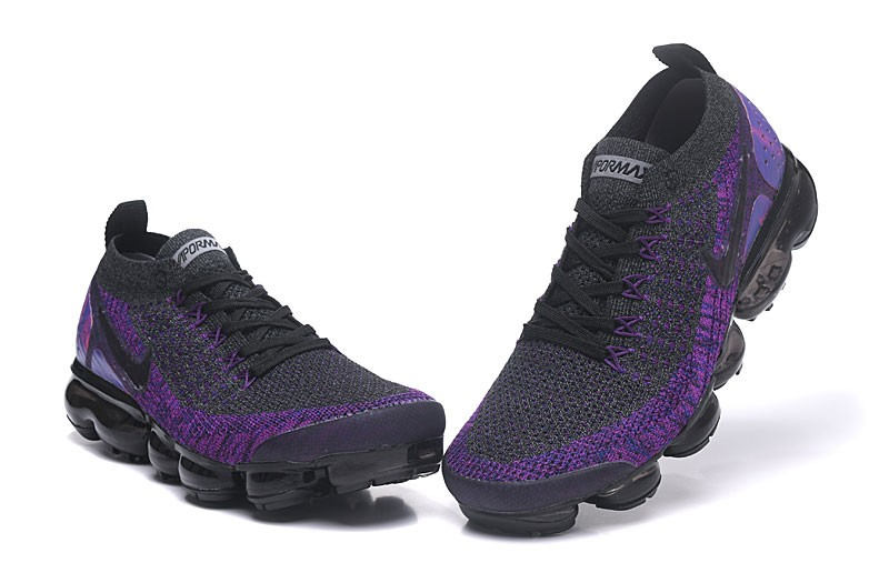 the latest 7219b aa03f New Arrival Nike Air VaporMax Flyknit 2.0 Dark Grey/Purple Men's-Women's  Running Shoes 942842-600
