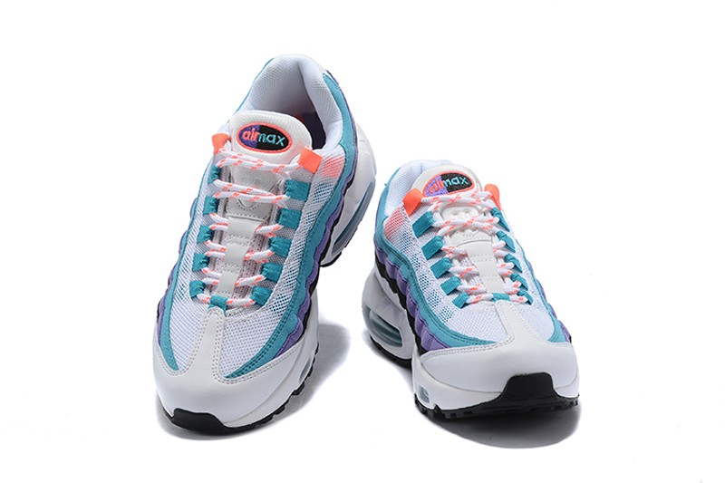 huge selection of 8d8db 99df7 Nike Air Max 95 White Green-Purple-Orange ...