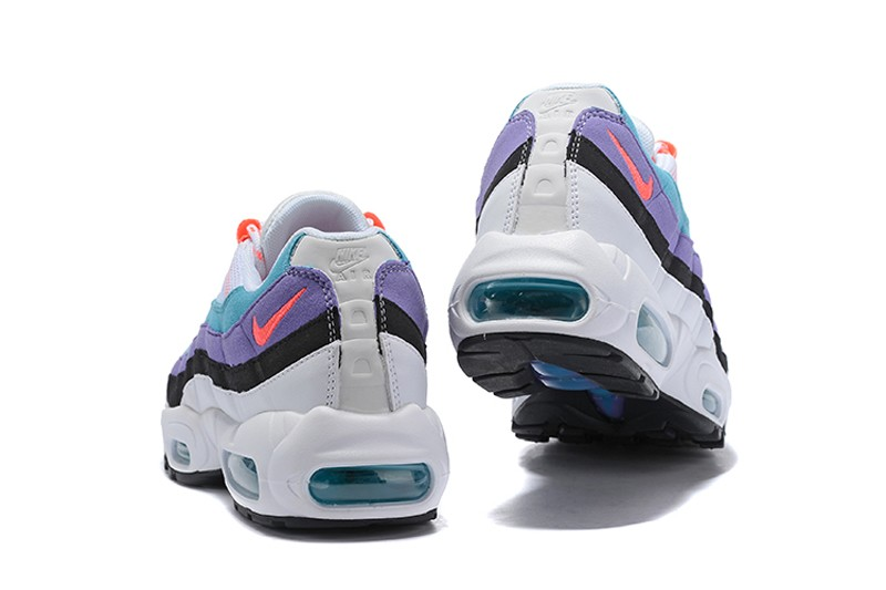 huge selection of 60b20 ce0ae Nike Air Max 95 White Green-Purple-Orange ...
