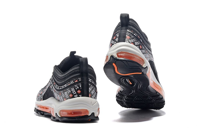 "new style 2e1dc b0329 Nike Air Max 97 ""Just Do It"" Black Total Orange-White Newest Running Shoes  ..."
