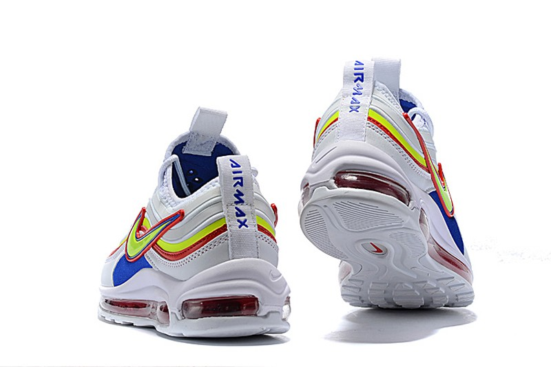 Nike Air Max 97 Women S White Fluorescent Green Blue Red 2018 New