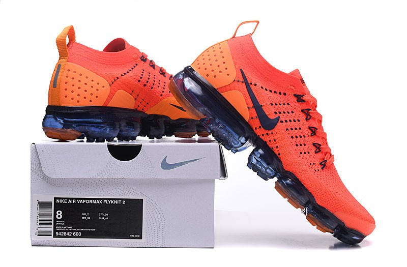 c1ce539b47c Nike Air VaporMax Flyknit 2.0 Team Red Obsidian Neutral Running Shoes 942842-106  ...