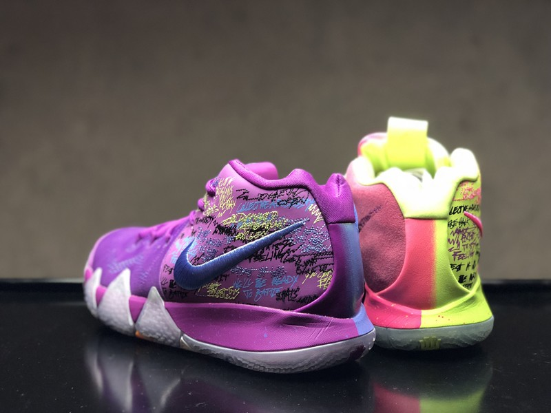 """low priced ace29 d5c81 Nike Kyrie 4 """"Confetti"""" Multi-color Multi-color Mens Size Basketball Shoes  ..."""