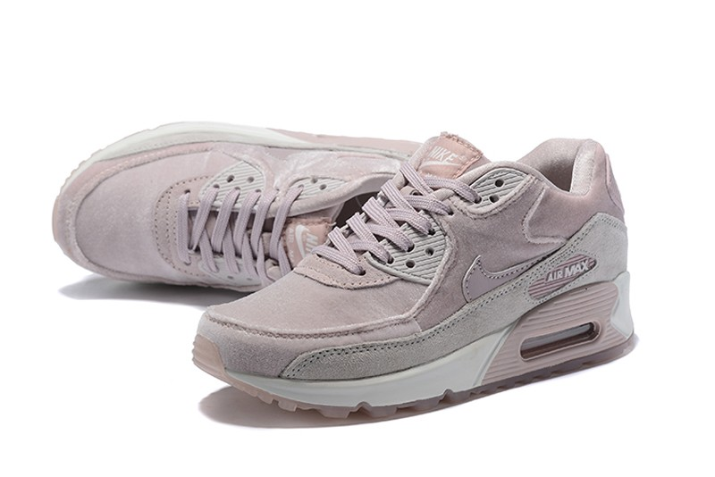 Nike WMNS Air Max 90 Fashion Running Shoes 898512-600 Particle Rose Vast  Grey-Summit White fa635d183