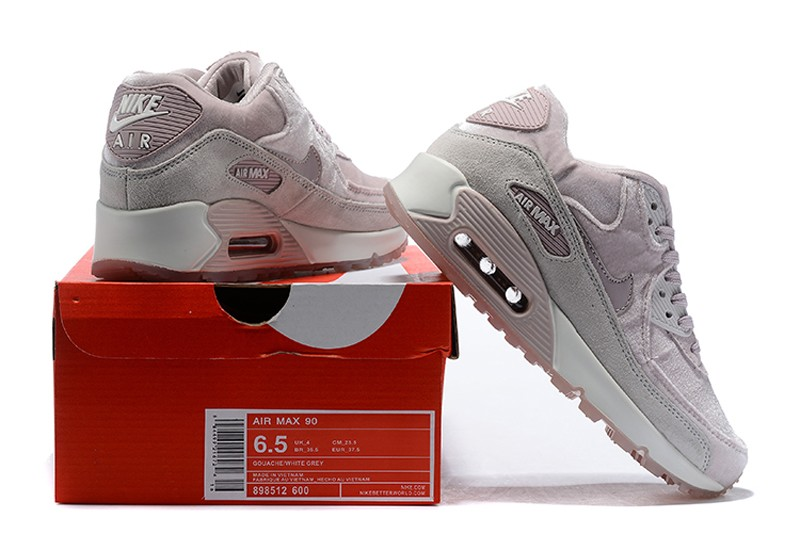 19552520a4 Nike WMNS Air Max 90 Fashion Running Shoes 898512-600 Particle Rose/Vast  Grey-Summit White