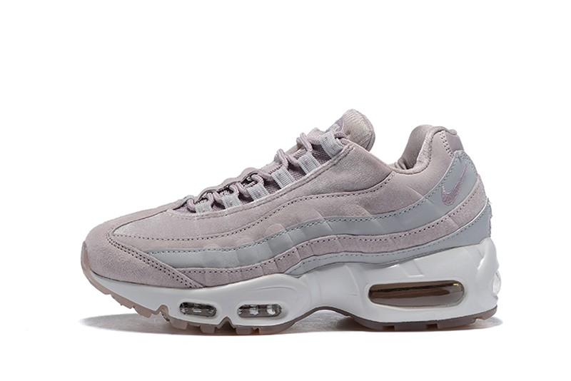8c10fa3b568 Nike WMNS Air Max 95 Running Shoes AA1103-600 Particle Rose Vast Grey Summit  White-Particle Rose