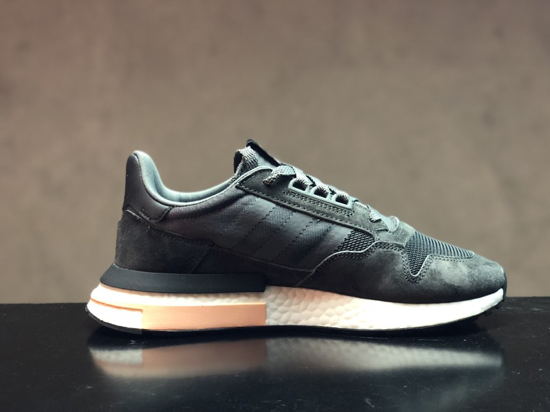 100% authentic 6f629 55b1e 2018 Year Adidas ZX500 Boost Dark Grey/Black Men's New Arrival Running  Shoes B42217