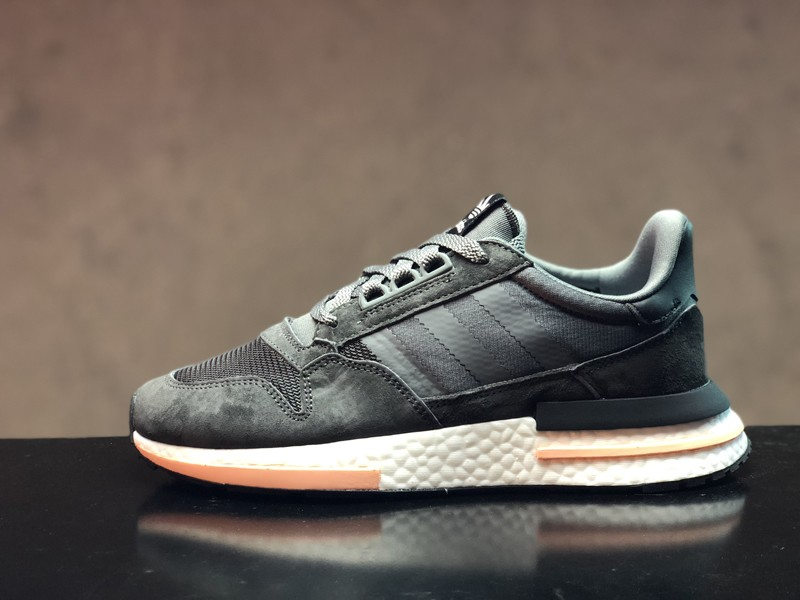 4acee5fc44f7d 2018 Year Adidas ZX500 Boost Dark Grey Black Men s New Arrival ...