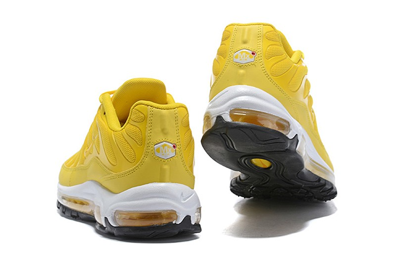 2018 Year Most Popular Nike Air Max 97 Plus Men's Jogging Shoes Ginger Yellow/White-Black