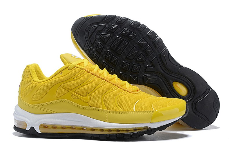 on sale bde29 f550a 2018 Year Most Popular Nike Air Max 97 Plus Men's Jogging Shoes Ginger  Yellow/White-Black