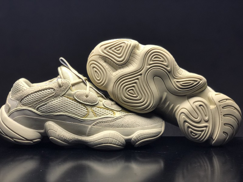"19362783a Adidas Yeezy 500 ""Desert Rat"" Super Moon Yellow Men s DB2966 Latest Style Running  Shoes"