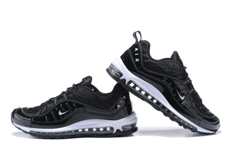 High Quality Nike Air Max 98 Men s-Women s Metallic Black Black ... 53d5b086d