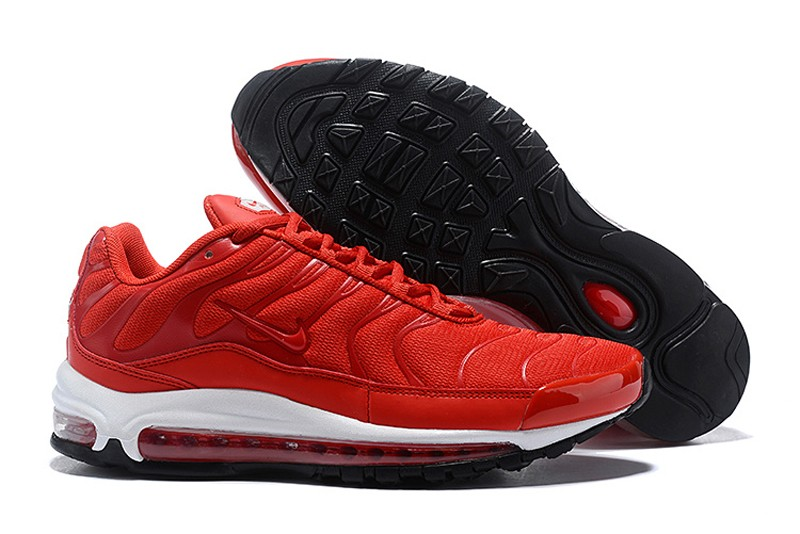 """reputable site d2c8f 162fe Mens New Release Nike Air Max 97 Plus """"Red-White-Black"""" ..."""