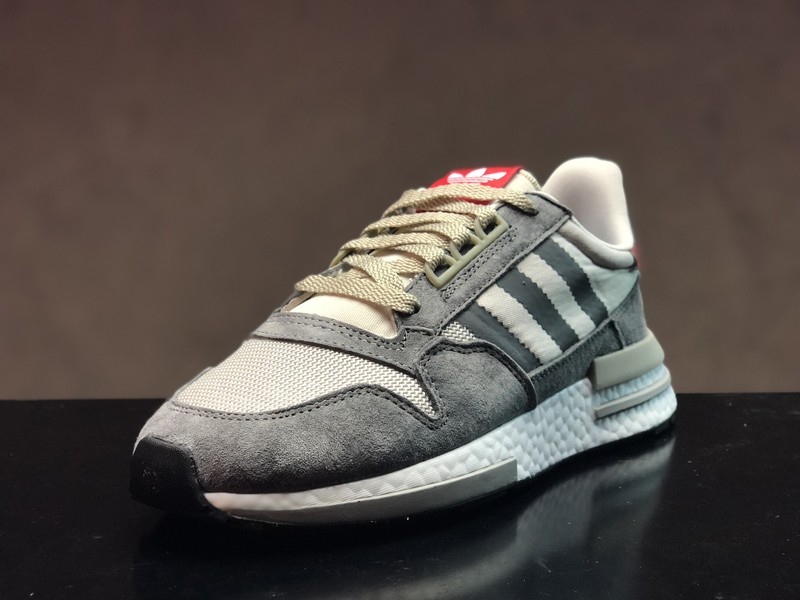 3d04e1ef4766 New This Year Adidas ZX500 Boost B42204 Men s Grey Four White Scarlet ...