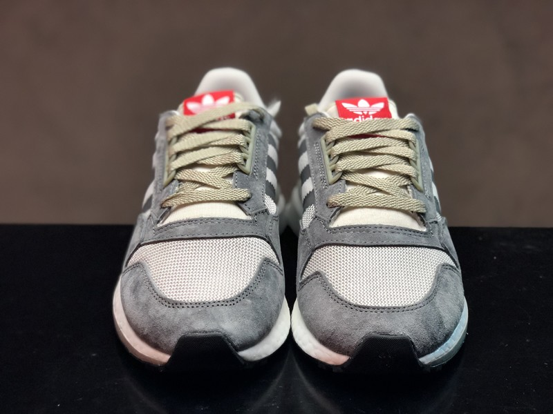 54836675b New This Year Adidas ZX500 Boost B42204 Men s Grey Four White Scarlet Running  Shoes ...