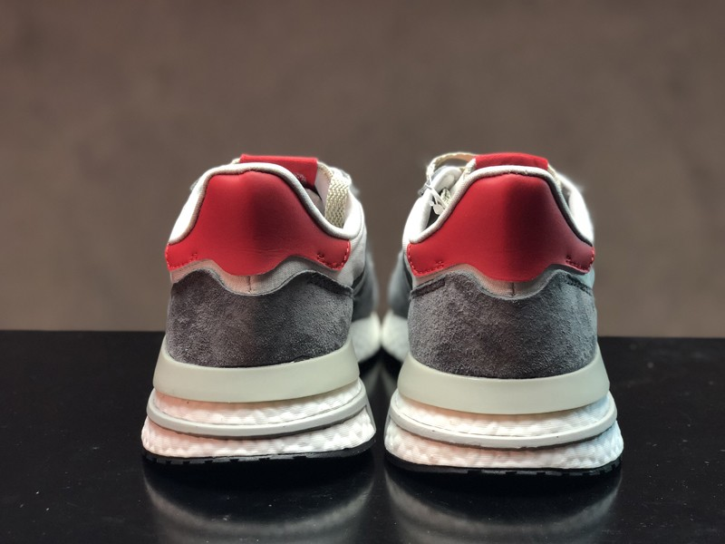 New This Year Adidas ZX500 Boost B42204 Men s Grey Four White Scarlet ... 4cf14e134b