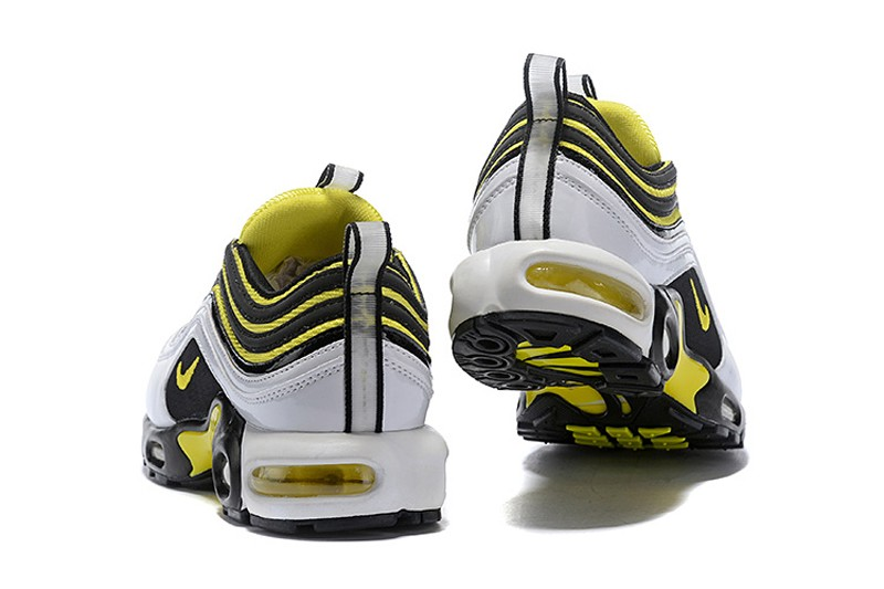 4cd2605efbb New This Year Nike Air Max 97 Plus TN AV7937-100 White Tour Yellow-Black ...