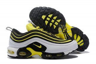 buy popular 5128e 04ad3 New This Year Nike Air Max 97 Plus TN AV7937-100 White/Tour Yellow-Black  Men's Sneakers For Sale