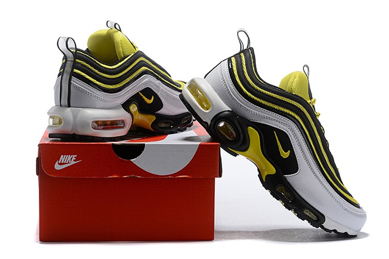 new concept 36240 47fe5 New This Year Nike Air Max 97 Plus TN AV7937-100 White Tour Yellow-Black  Men s ...