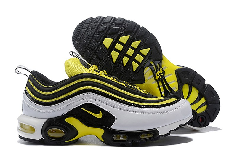 783ccd2bde788c New This Year Nike Air Max 97 Plus TN AV7937-100 White Tour Yellow-Black  Men s Sneakers For Sale