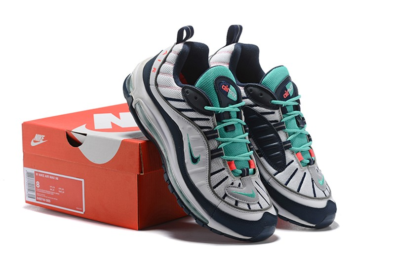 bd561c5459 Nike Air Max 98 (640744-005) Pure Platinum/Obsidian-Kinetic Green Men's Running  Shoes ...