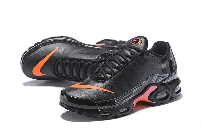 save off be2d2 cd984 Nike Air Max Plus TN SE Mercurial Black/Orange Men's New Arrival Cushioning  Running Shoes