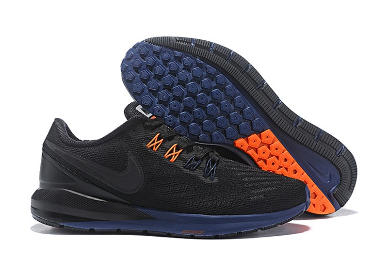 ab4e150fba48 Nike Air Zoom Structure 22 Black Orange-Dark Blue Men s Running Shoes ...