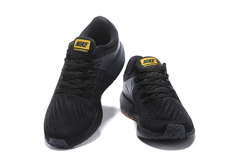 Nike Air Zoom Structure 22 Men s Black Gold Athletic Sneakers AA1636-088 Free  Shipping 6d0bc23b2