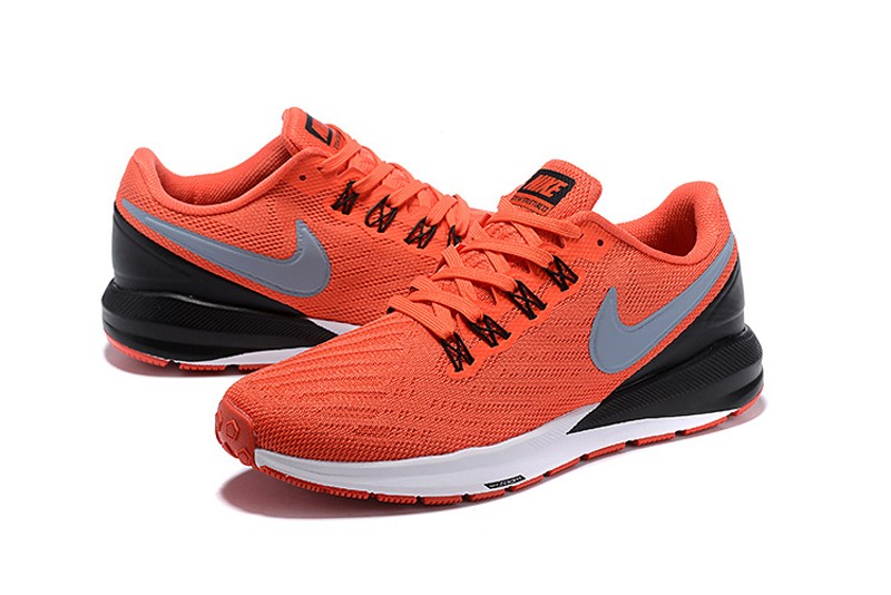 Nike Air Zoom Structure 22 Orange Black-Wolf Grey-White Mens Newest Running Shoes  AA1636-620 fb614d902