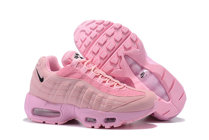 new products 4c3aa ca727 Nike WMNS Air Max 95 Particle Rose/Pink-Black Air Cushion Running Shoes For  Online Sale