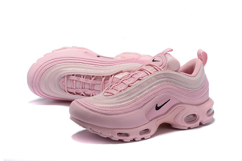 outlet store a7ee6 4b2e6 Nike Wmns Air Max 97 Plus TN Lotus Color/Pink-Black Cushioning Running  Shoes Hot Sale