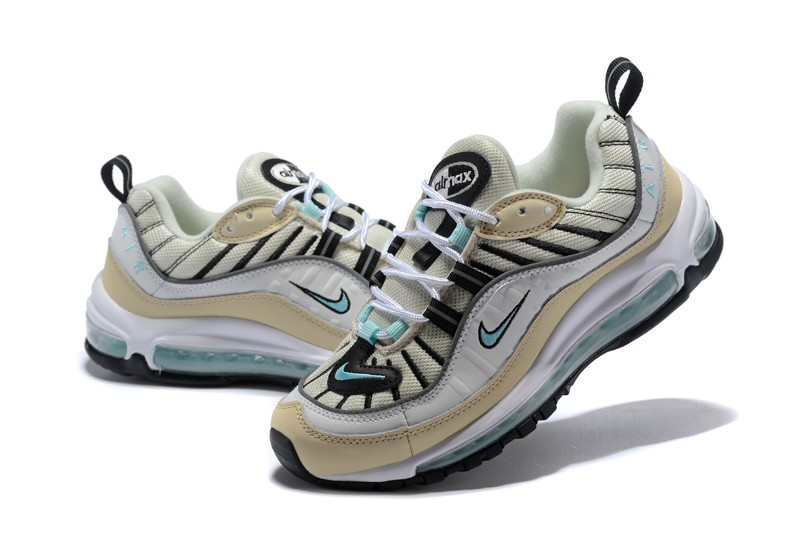 9024ee7d6454 Nike Wmns Air Max 98 Newest Jogging Shoes Sail Igloo-Fossil-Reflective  Silver ...