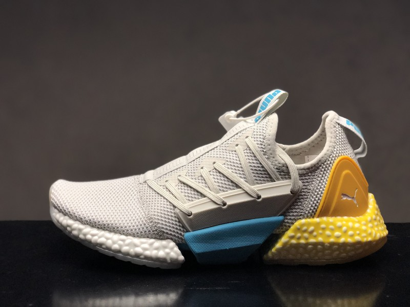 Puma Hybrid Rocket Runner 191592-03 Men s Wolf Grey Yellow-Blue Running  Shoes ... cbf946e5d