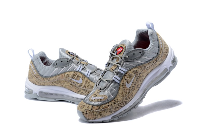 """best authentic 5d76e 08f2a Supreme x NikeLab Air Max 98 """"Snakeskin"""" Men s New Style Running Shoes ..."""
