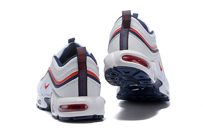 "premium selection 5f100 54f15 Top Quality Nike Air Max 97 Plus TN ""White-Dark Blue-Red"" ..."