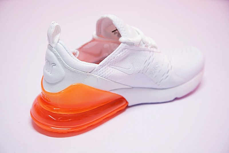 new concept 7e43a d3975 2018 Most Popular Nike Air Max 270 White/Orange Men's-Women's Running Shoes  AH8050-102