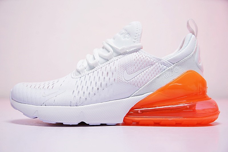 2018 Most Popular Nike Air Max 270 White Orange Men S Women S