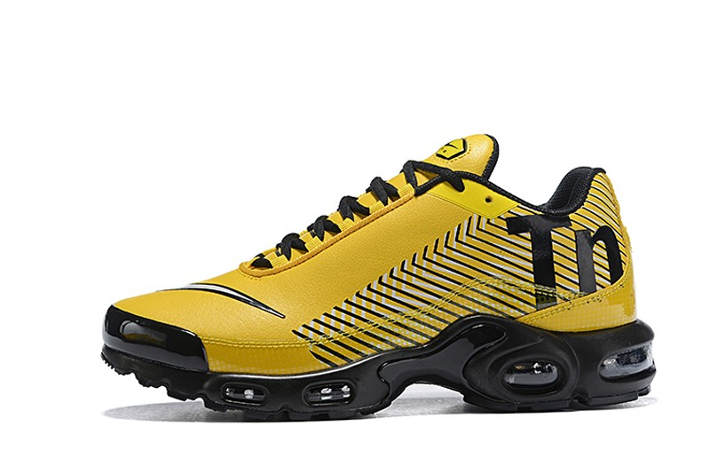 the best attitude 7978f e0f1f 2018 New Arrival Nike Air Max Plus TN SE Men s Ginger Yellow Black-White  Running Shoes