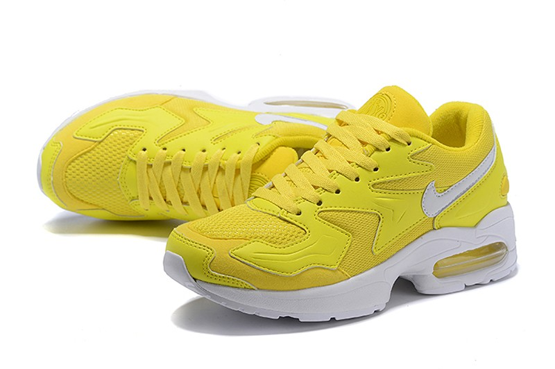 the best attitude f4b15 a85eb 2018 New Release Nike Air Max 2 Light Ginger Yellow/White Women's Fashion  Running Shoes