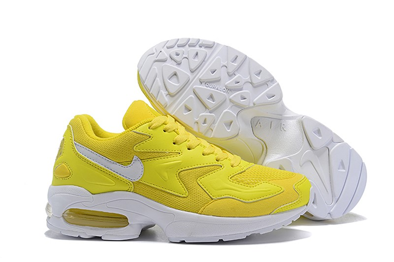 the best attitude add54 81bf6 2018 New Release Nike Air Max 2 Light Ginger Yellow/White Women's Fashion  Running Shoes