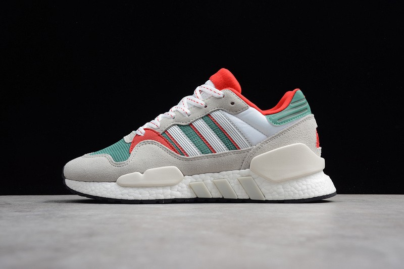 half off 90cb0 0f473 Adidas Originals EQT ZX G26806 Wolf Grey/Green-Red Resistant Breathable  Sneakers In Stock