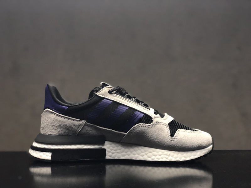 buy popular 13502 5d3c0 Adidas ZX 500 RM Boost F36913 Men's Wolf Grey/Purple Delicate Running Shoes  On Sale