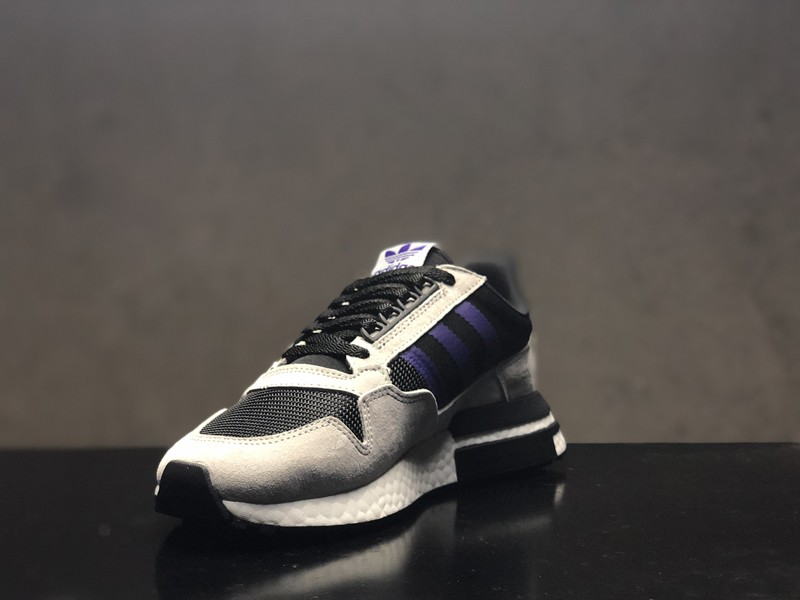 buy popular 2fc3c 01efa Adidas ZX 500 RM Boost F36913 Men's Wolf Grey/Purple Delicate Running Shoes  On Sale